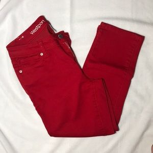 Dress Barn Westport Red Jeans